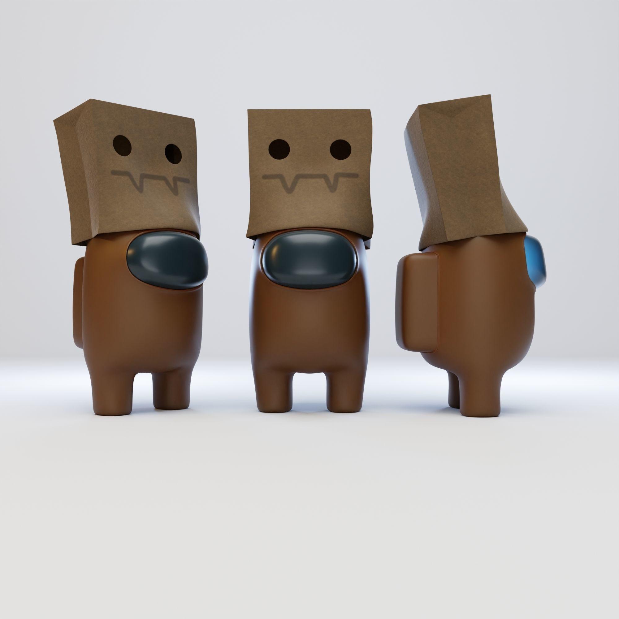 Among Us Spooky Paper Bag Character