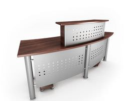 grey office table reception desk 43 am53 3d