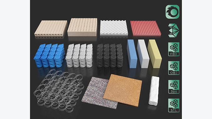Mattress elements parts editable pack collection