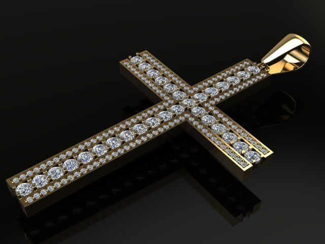 Large Diamond Cross