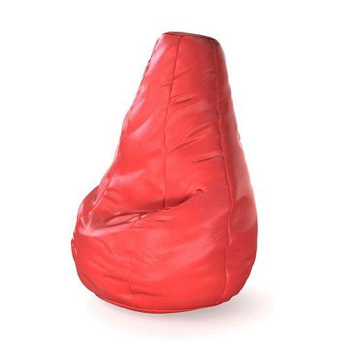 red bean bag chair 21 am121 3d model obj mtl 1