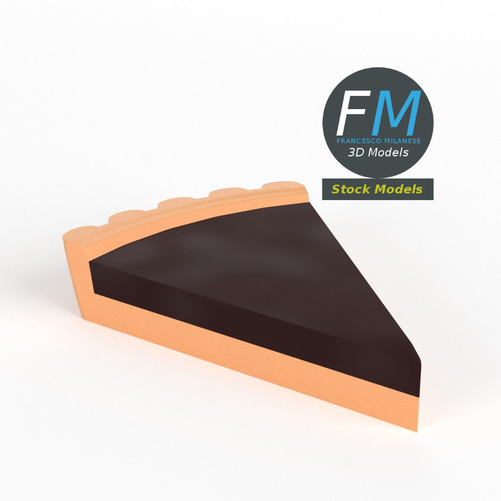Stylized slice of chocolate tart
