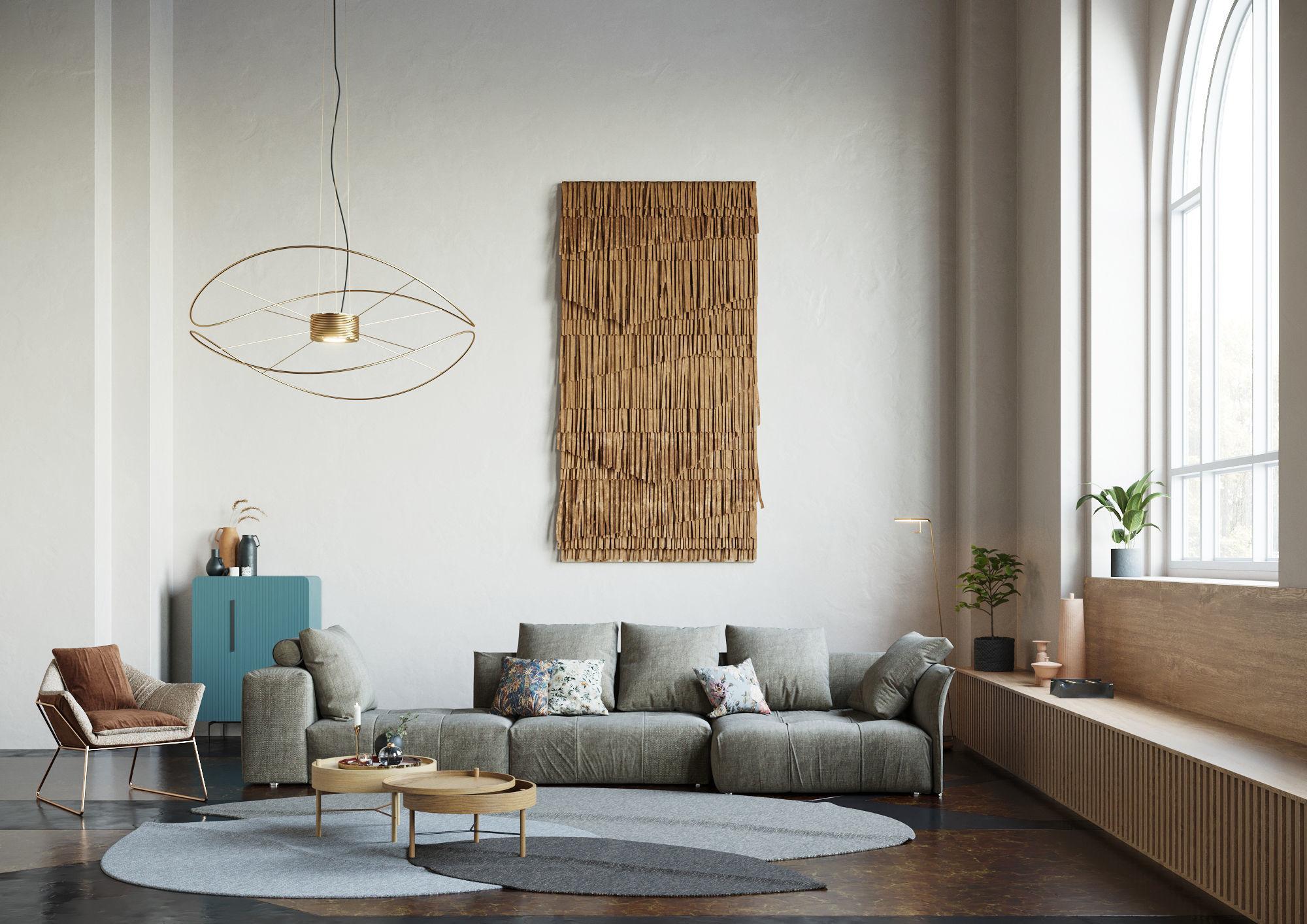 Pixels and Flowers living room interior scene