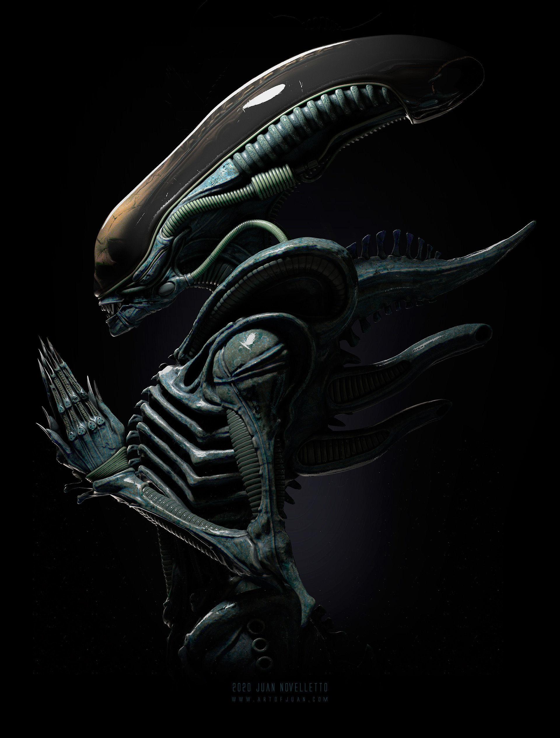 Alien Xenomorph 3D model ready for printing