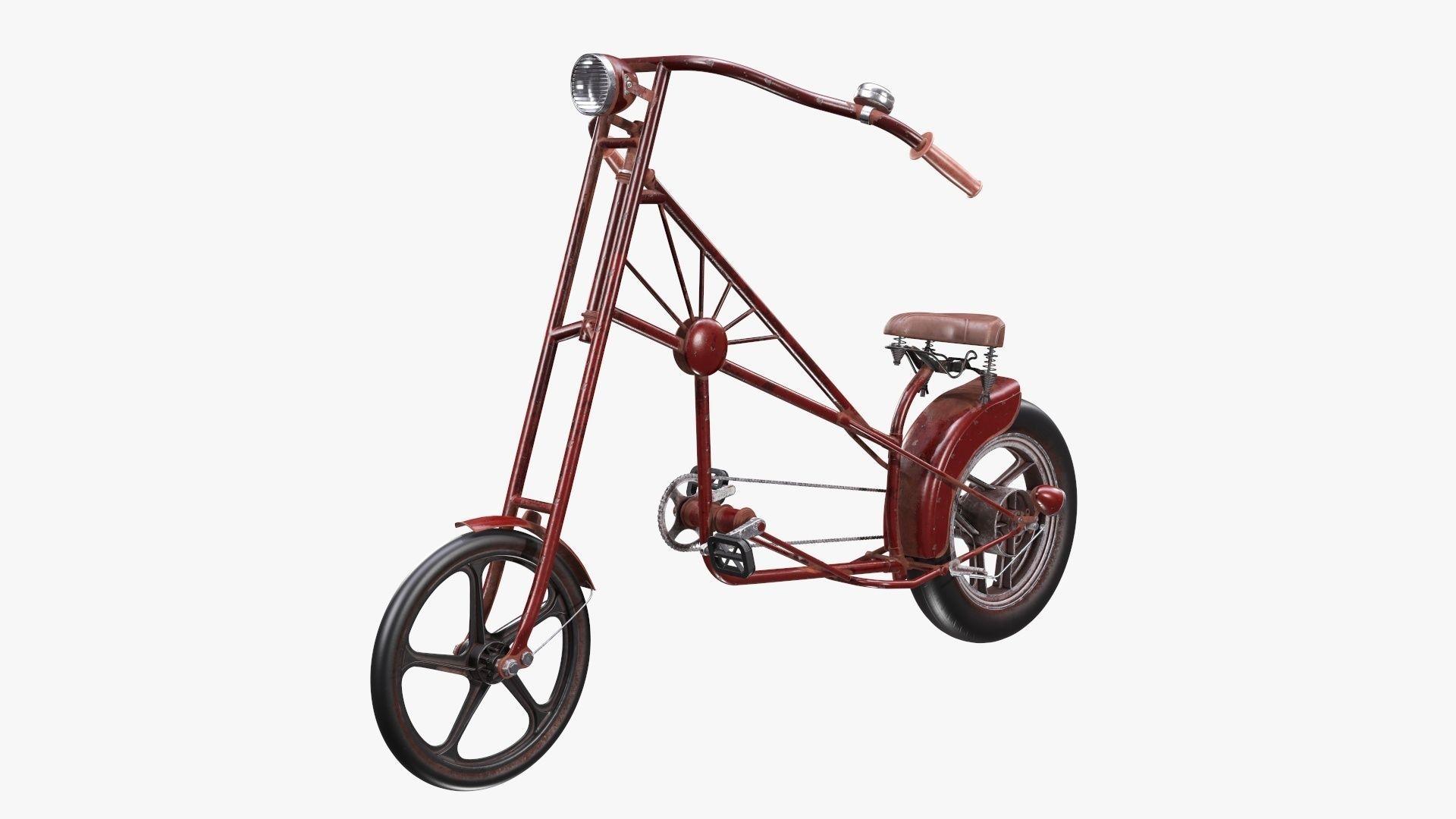 Vintage bicycle stylized