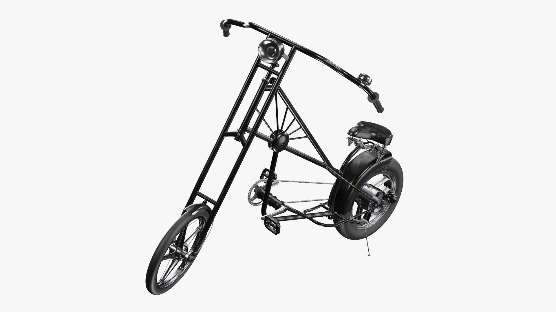 Vintage bicycle stylized 02
