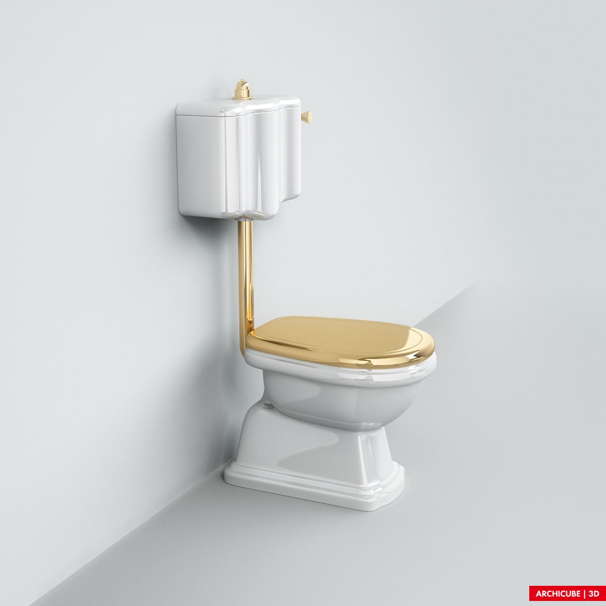 Classic toilet 02 3d model max obj fbx - Toilet model ...