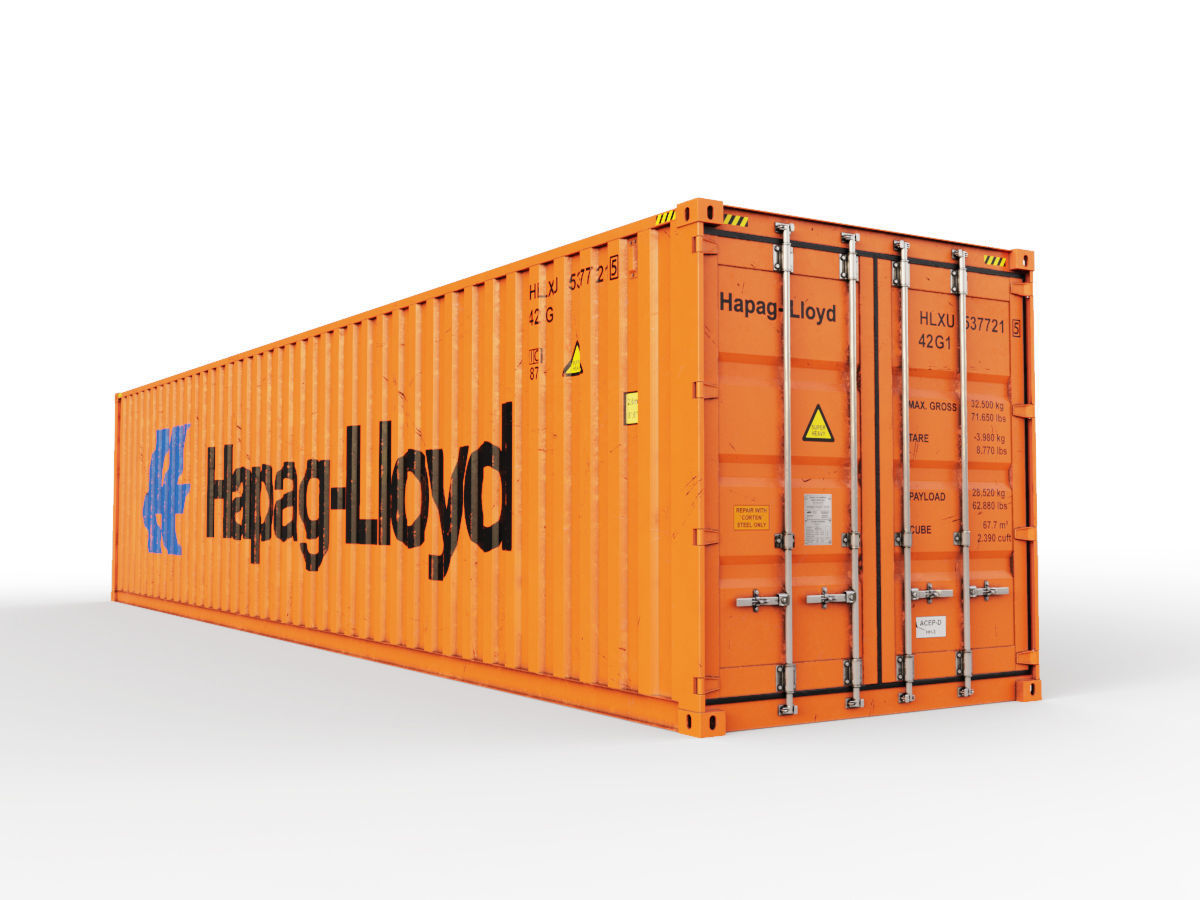 40 feet Hapag-Lloyd standard shipping container