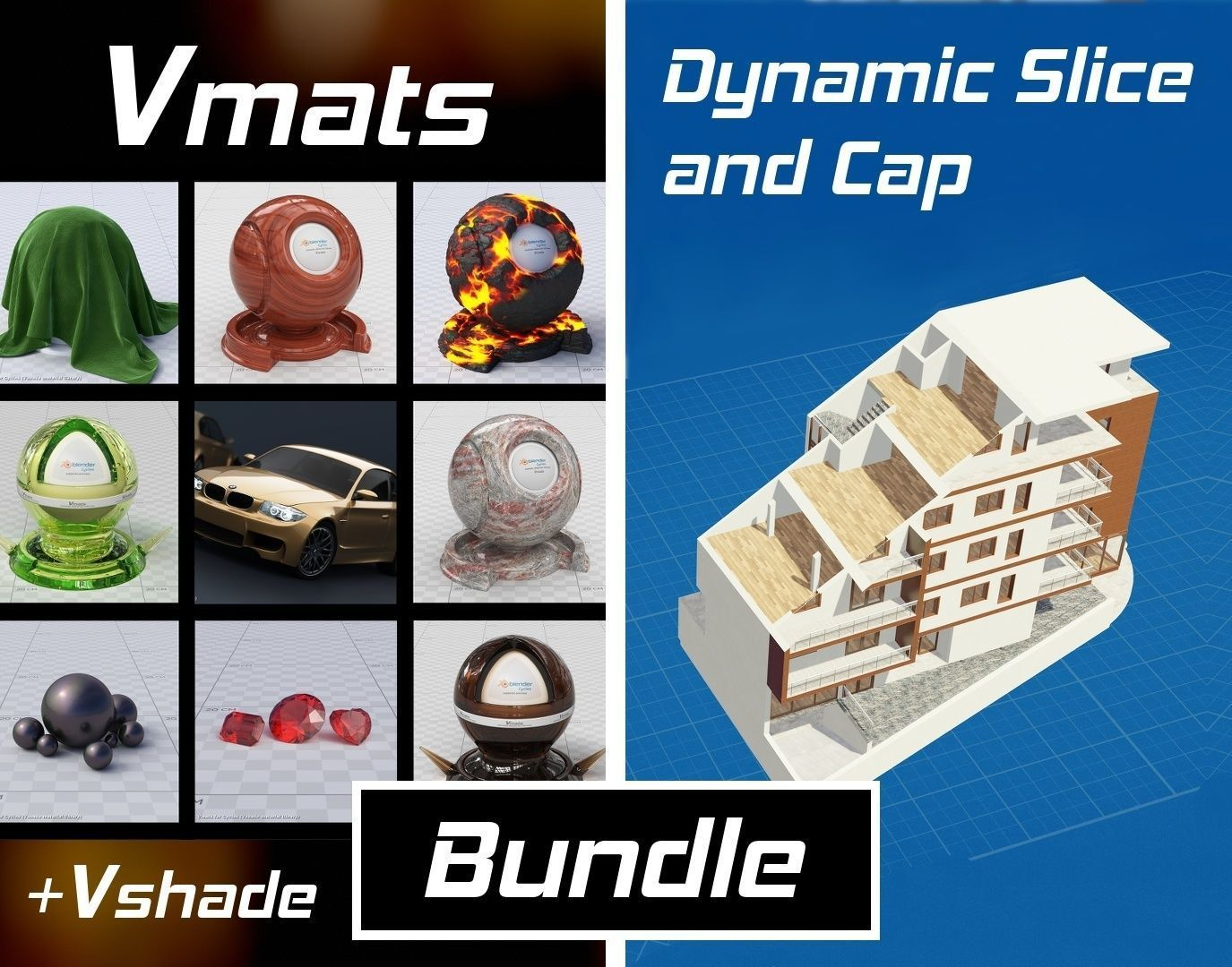 VMATS and DYNAMIC SLICE AND CAP for Blender