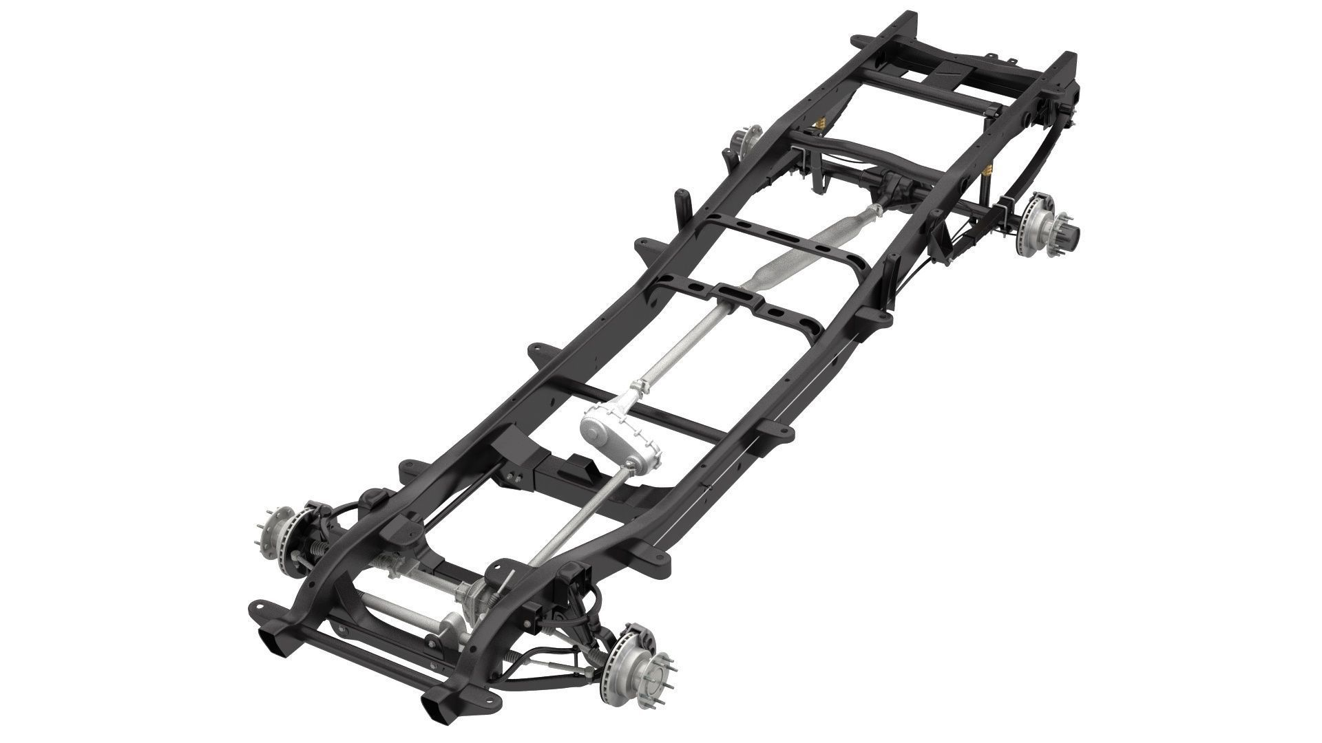 DUALLY PICKUP TRUCK CHASSIS 4WD IFS