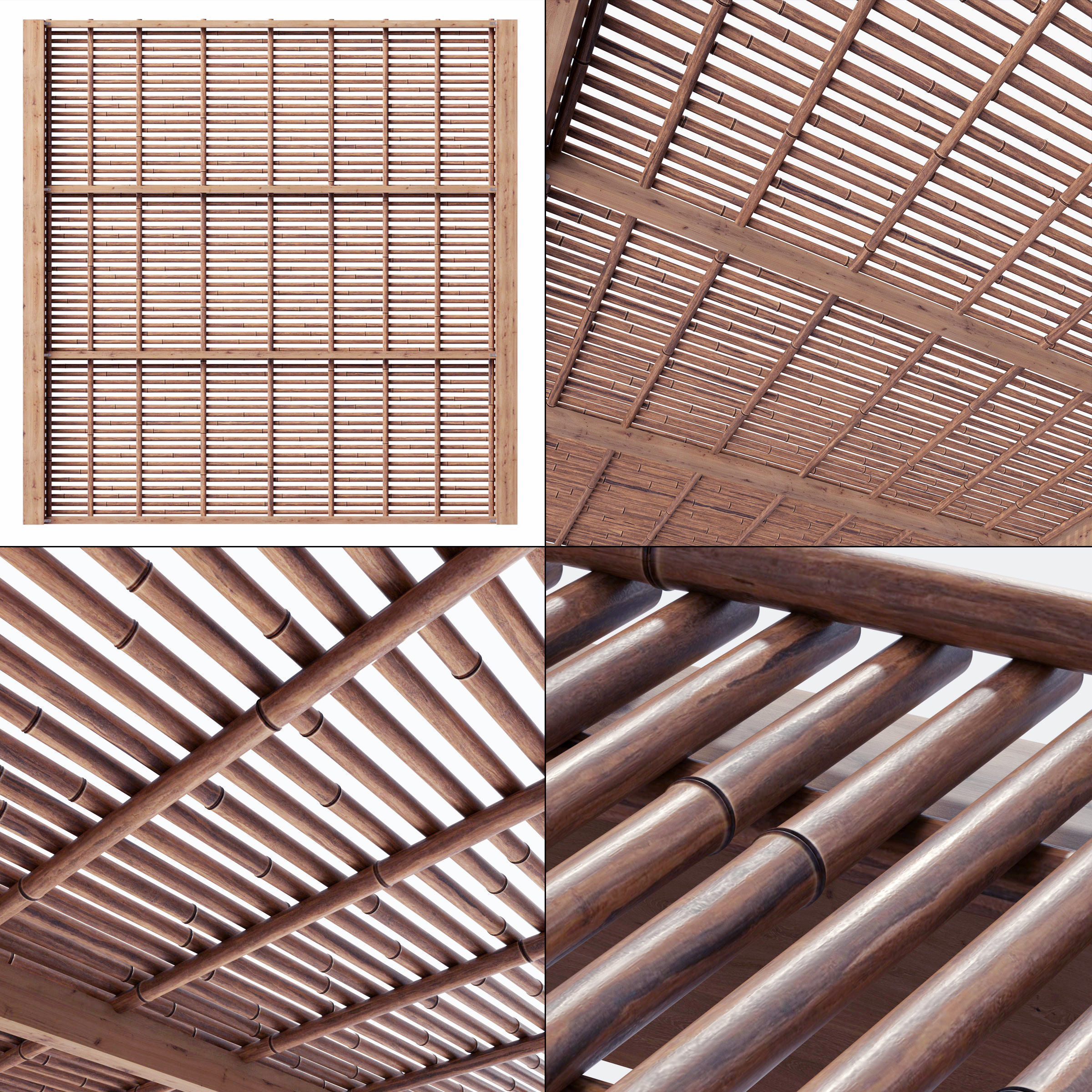 Bamboo branch decor Ceiling n22