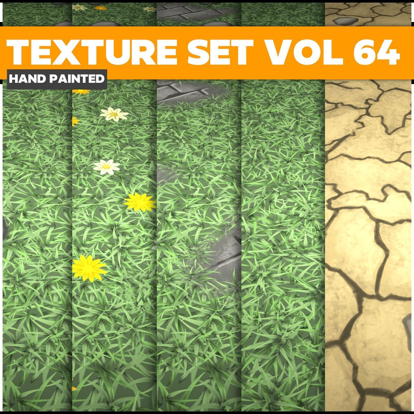 Grass Vol 64 - Game PBR Textures