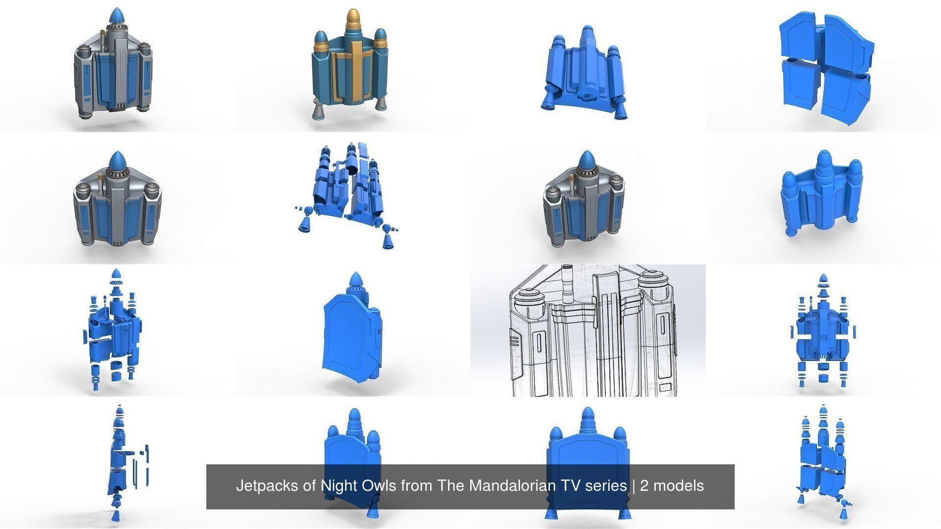 Jetpacks of Night Owls from The Mandalorian TV series