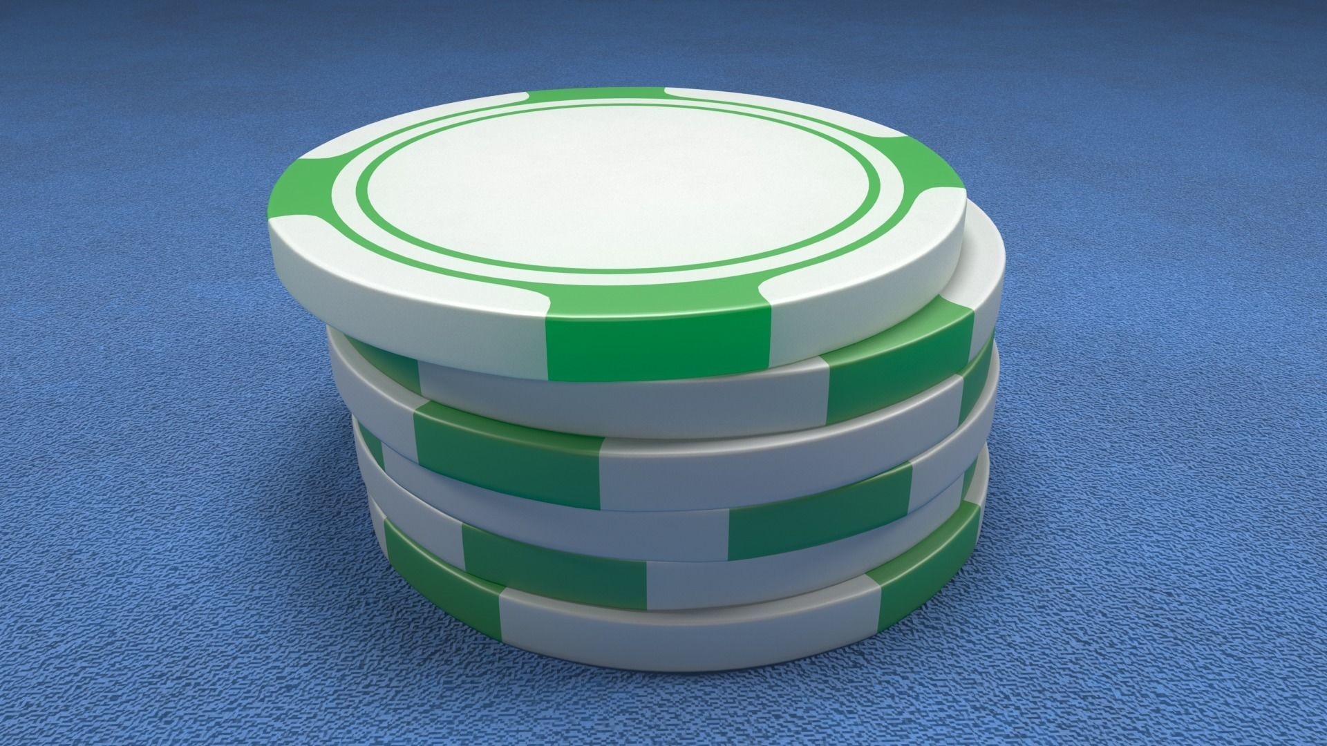 Poker Chips Green and White