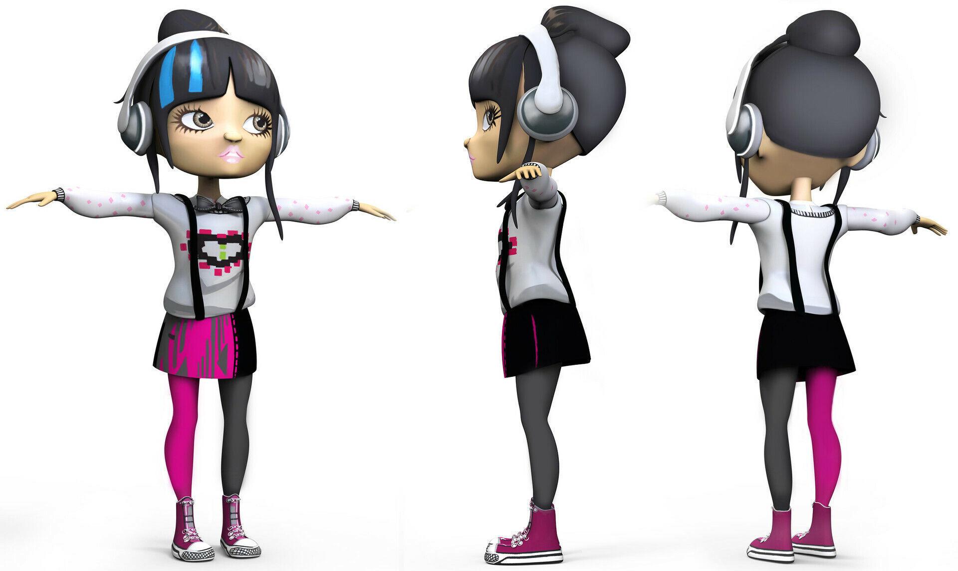 Middle School Moguls Character Study - ZBrush Model - Sunny