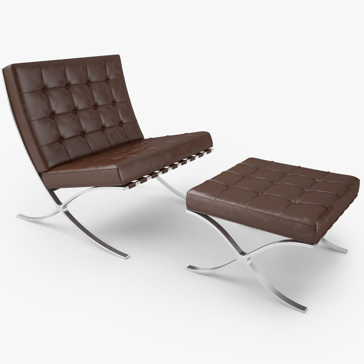 Nice ... Knoll Barcelona Chair 3d Model Max Obj Fbx Mtl 2 ...