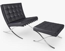 3d model knoll barcelona chair