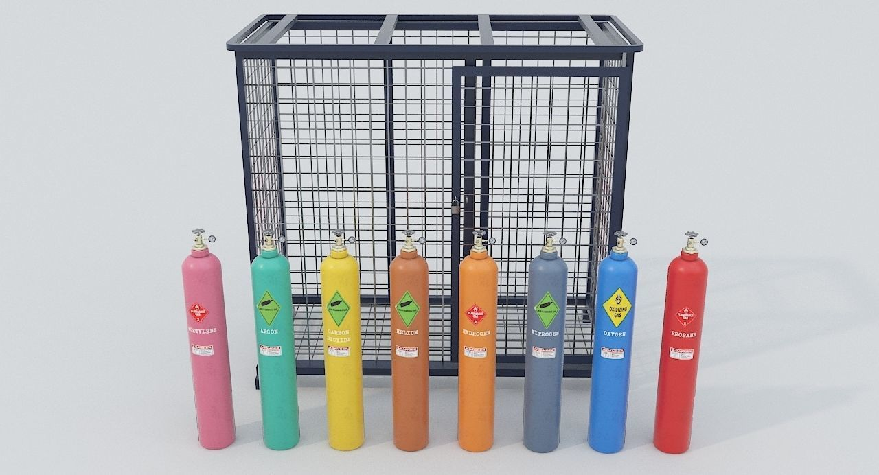 8-types of Industrial Gas Cylinders