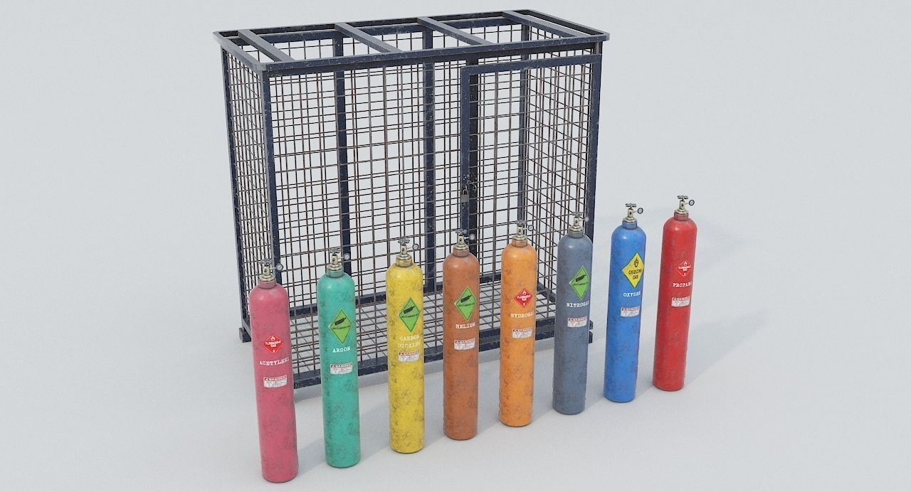 8-types of Old Industrial Gas Cylinders