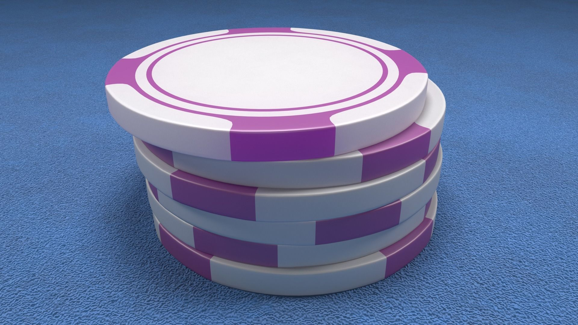 Poker Chips Purple and White
