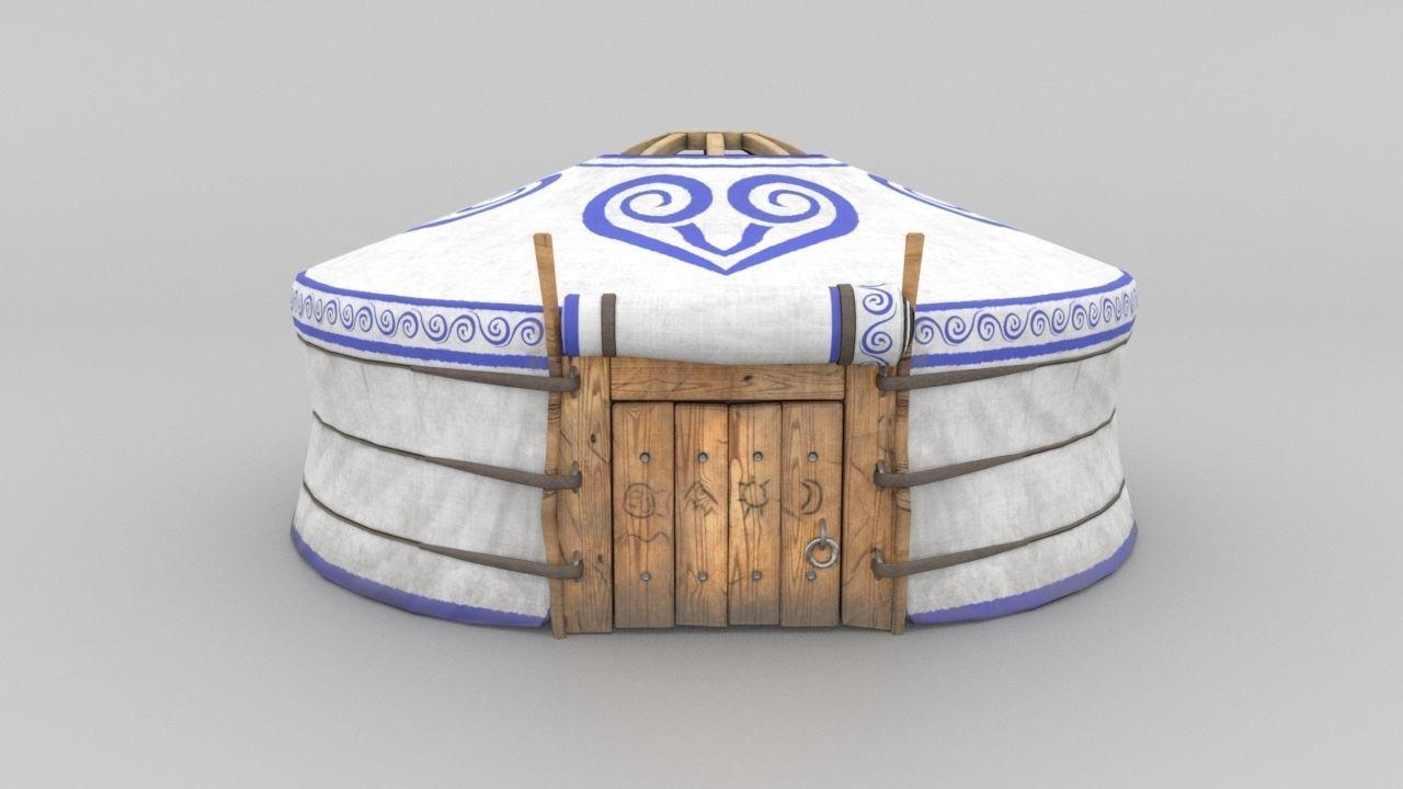 3D Model Yurt - nomads tent