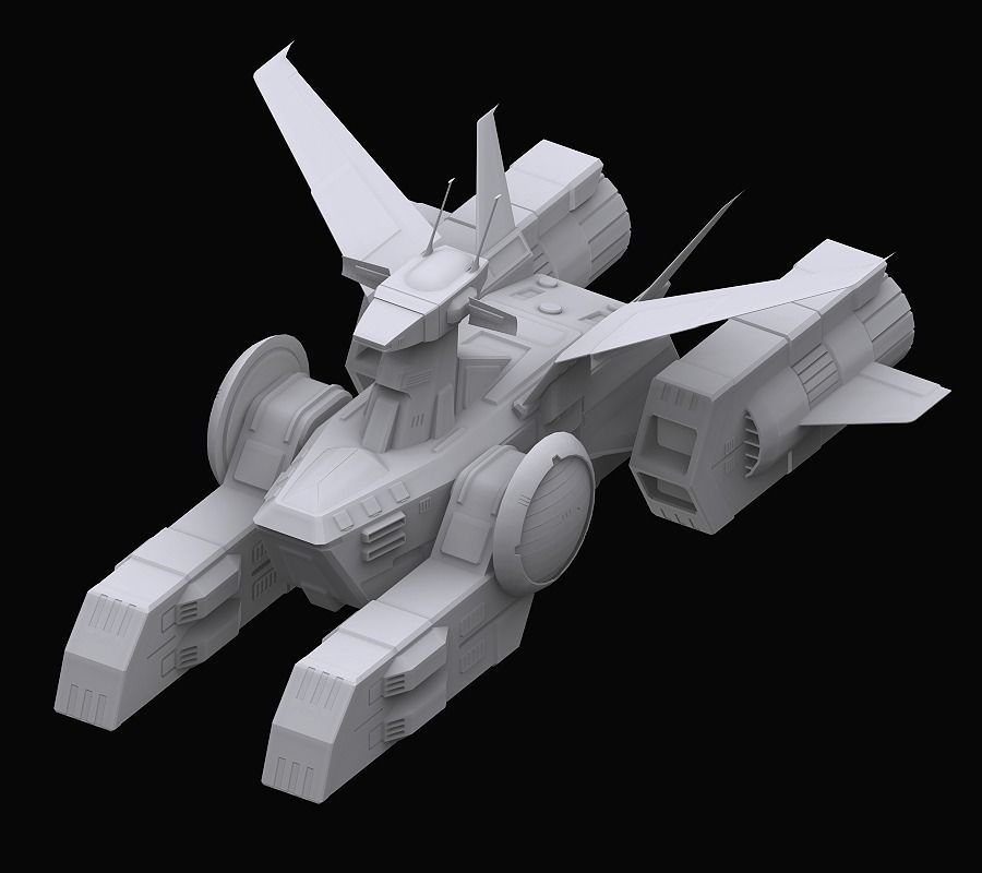 Gundam EF Whitebase model