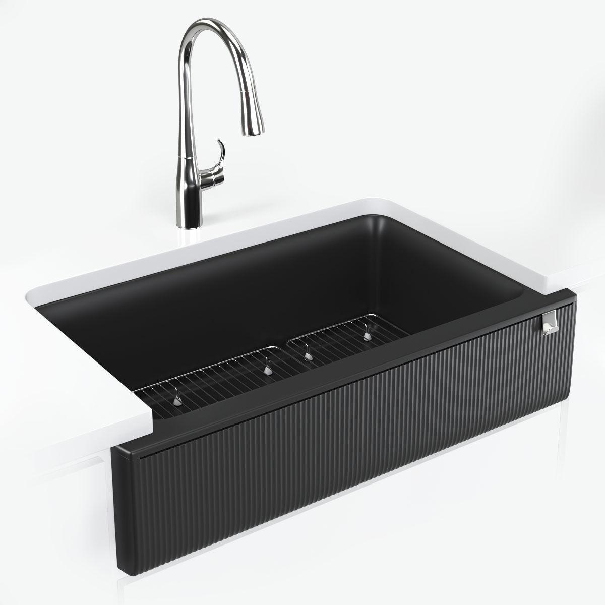 kitchen sink kohler cairn 3d model