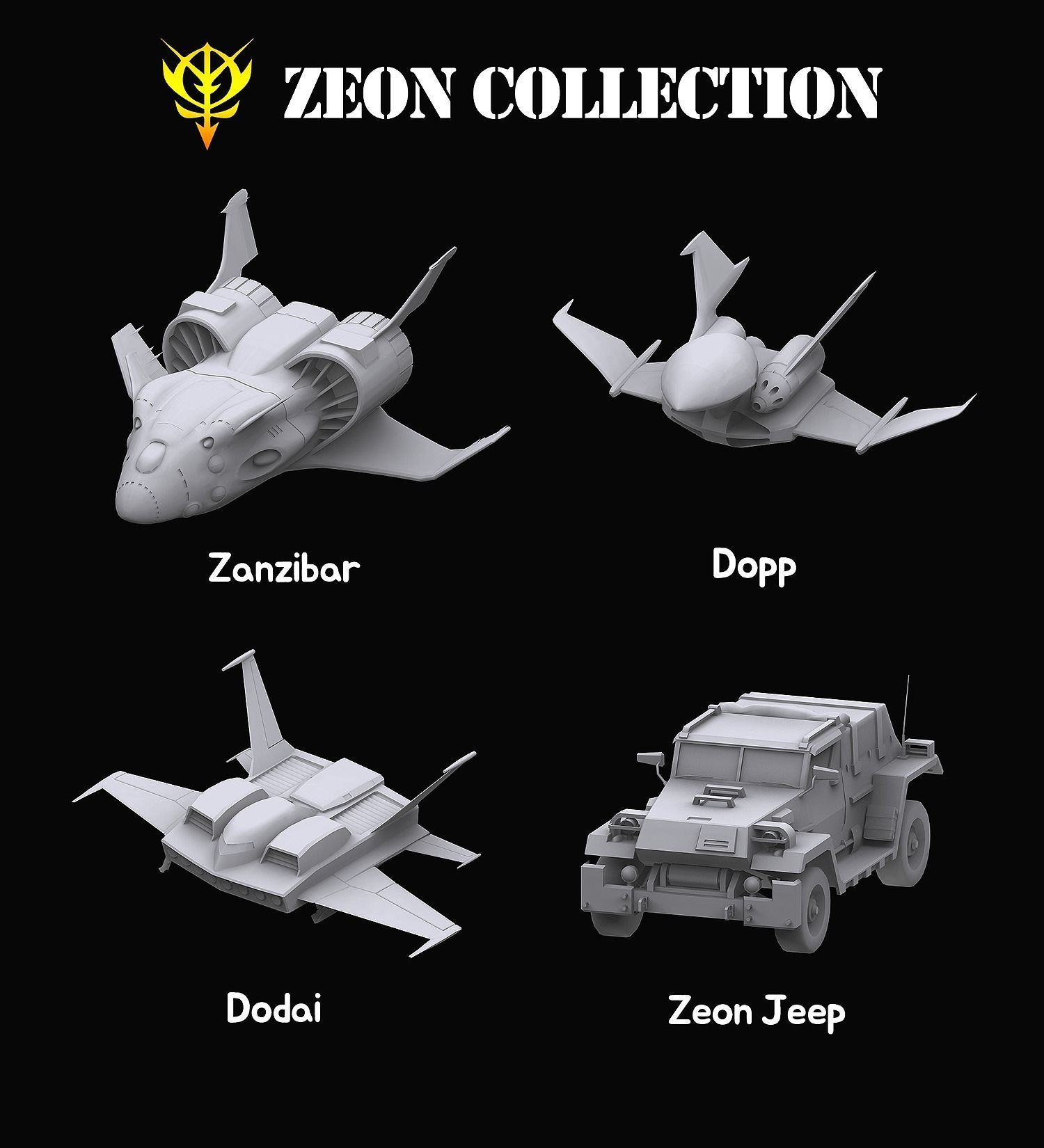 Gundam Zeon Space military Collection