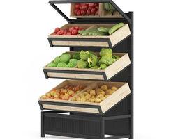 3D Market Shelf Vegetables