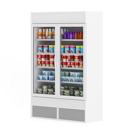 market refrigerator 3d model max obj mtl fbx c4d ma mb 1