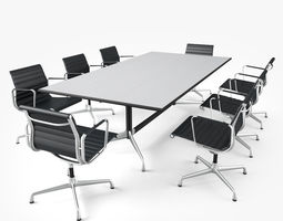 Meeting Room Furniture 01 3D