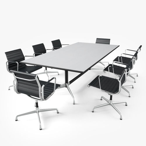 Meeting Room Furniture D CGTrader - Conference room table mats