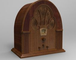 3d model antique radio