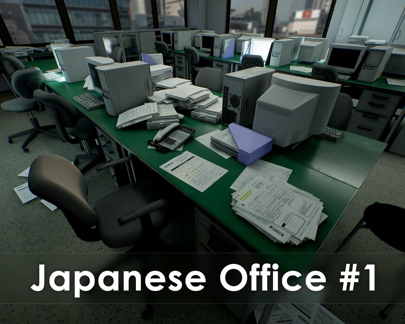 Japanese Office Pack - Over 100 Models