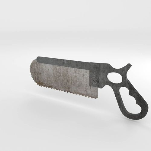bone saw 3d model obj fbx blend mtl 1
