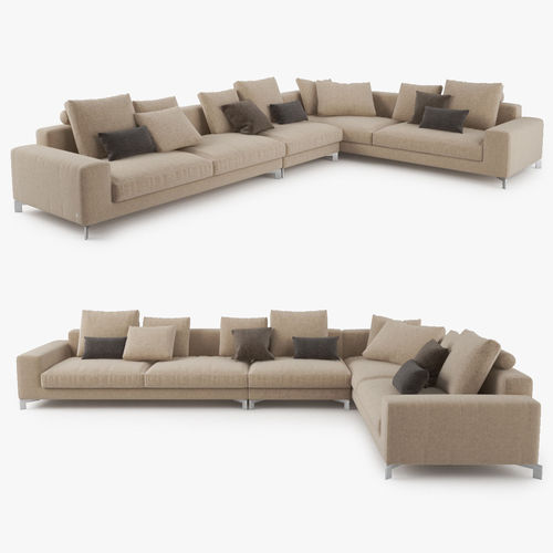 Busnelli Take It Easy Sectional Sofa Model Max Obj Mtl Fbx 1