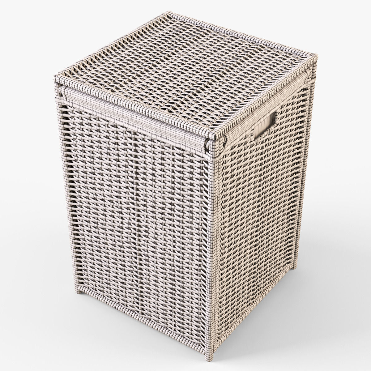Well-known Wicker Laundry Basket 04 3D model | CGTrader UU29