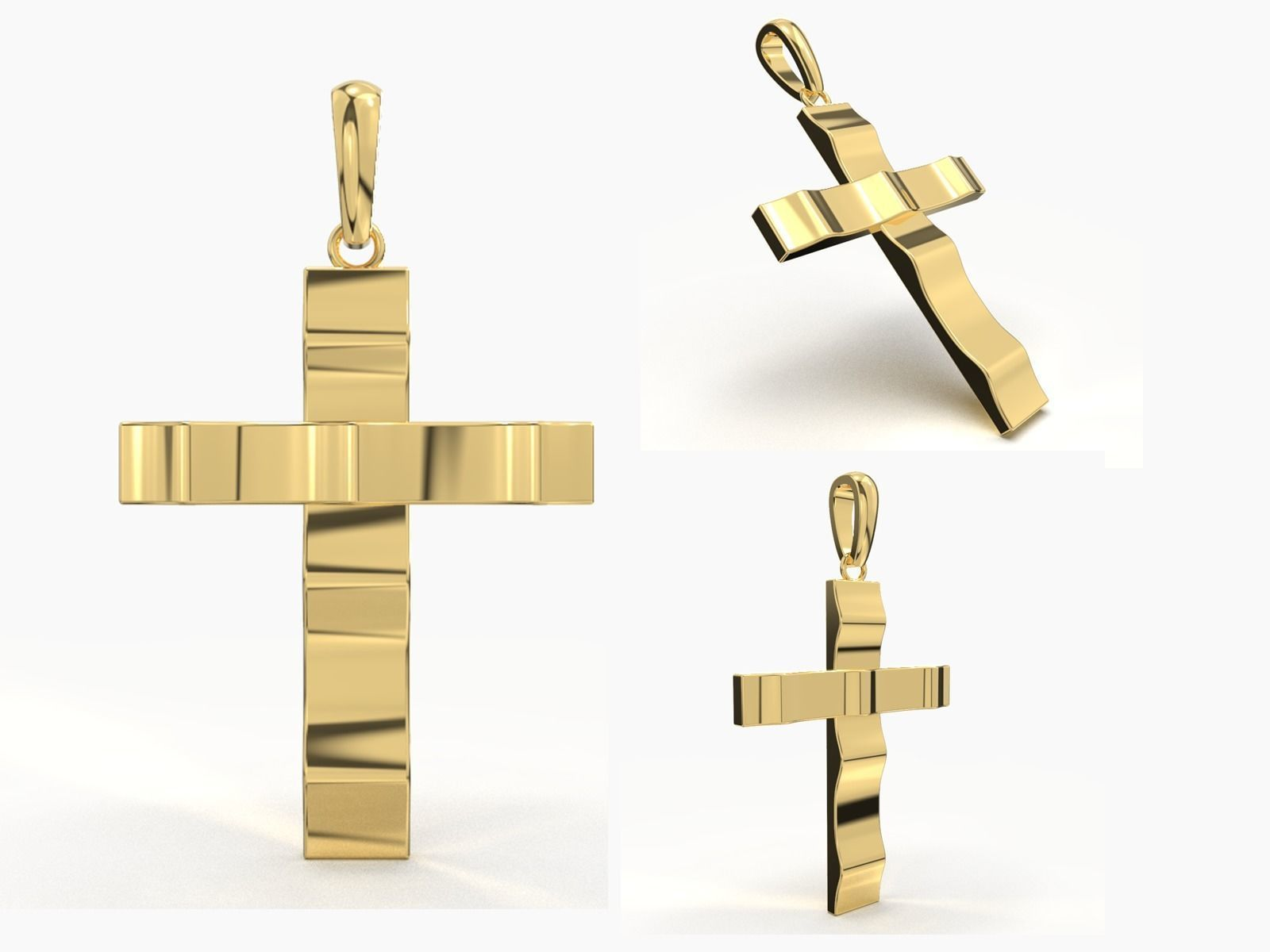 JESUS CROSS GOLD PENDANT