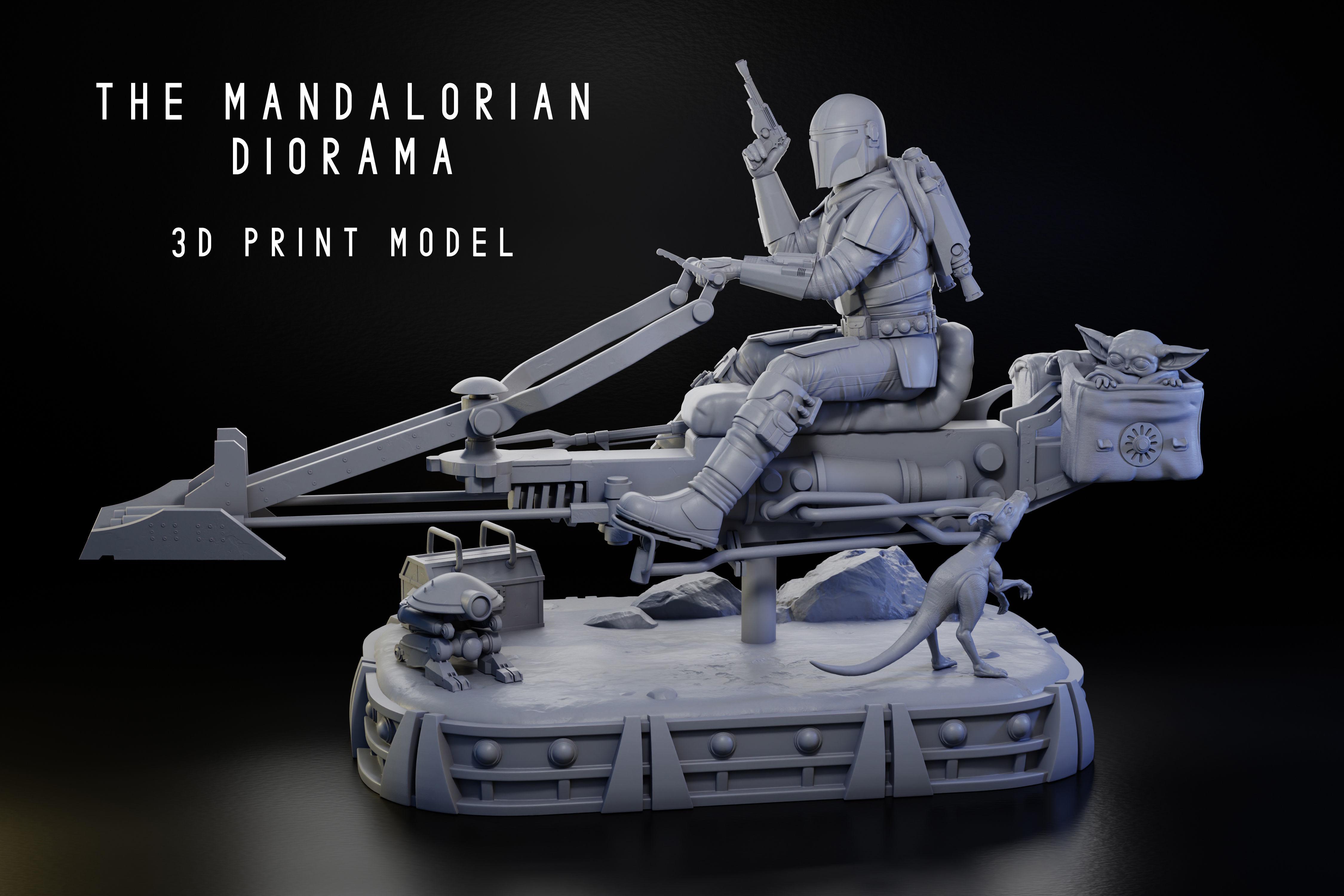 The Mandalorian Diorama 1-6 Scale -
