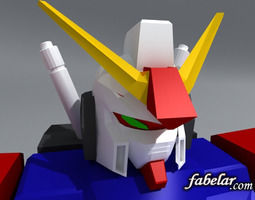 gundam 3d model max obj 3ds