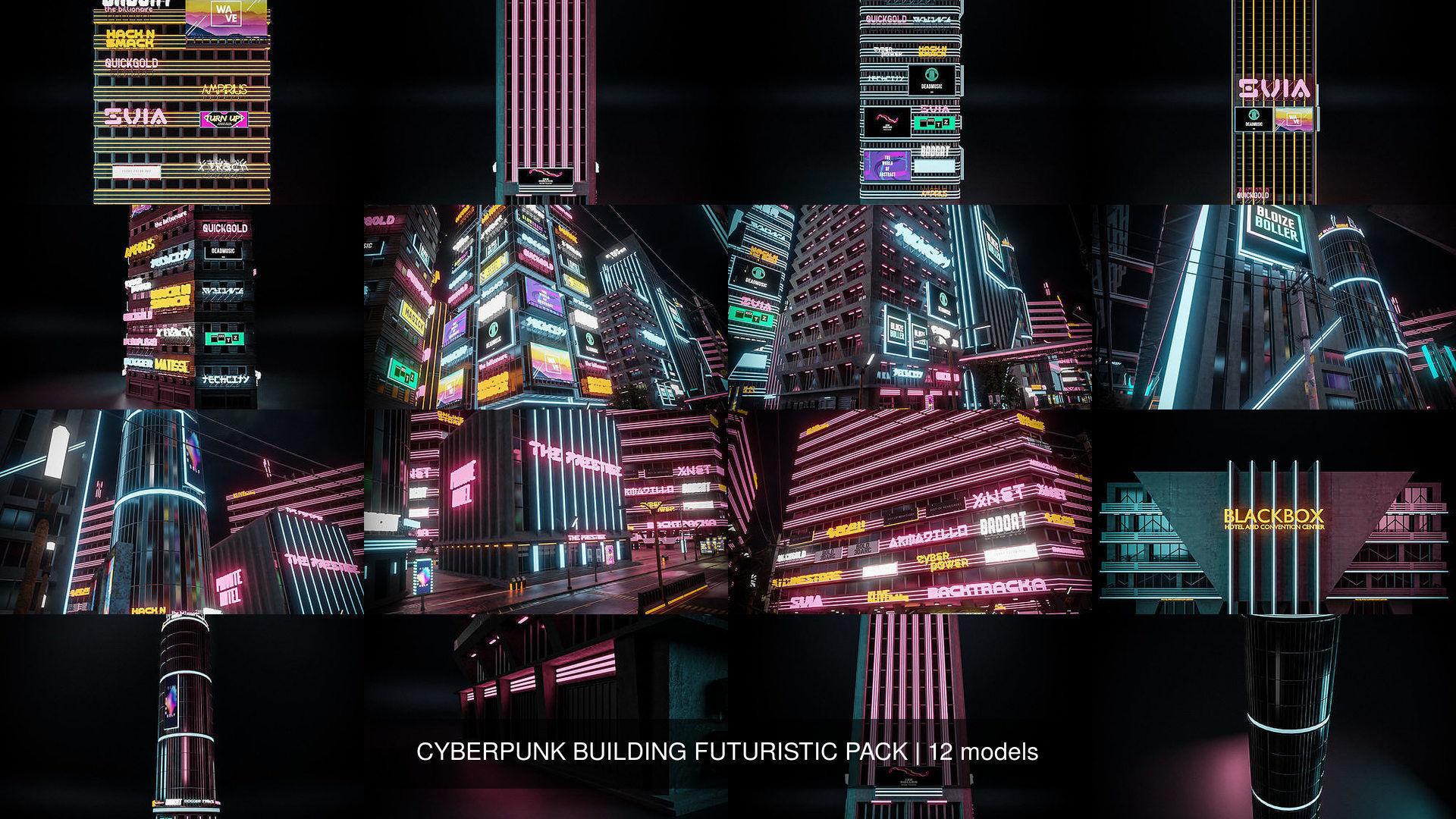 CYBERPUNK BUILDING FUTURISTIC PACK