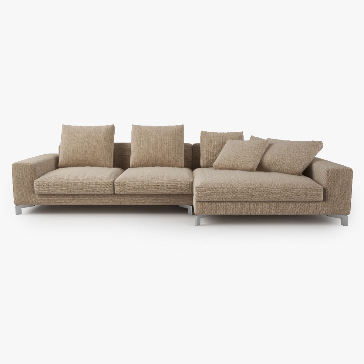 Busnelli Take It Easy Sofa Corner Model Max Obj Mtl Fbx 3