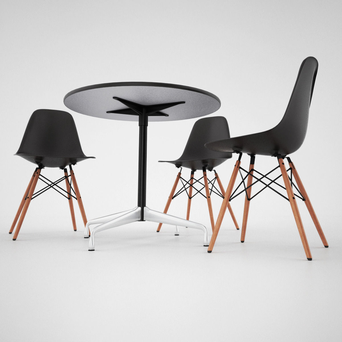 Vitra Dsw Chair And Eames Table 3d Model Max Obj Fbx Mat 4