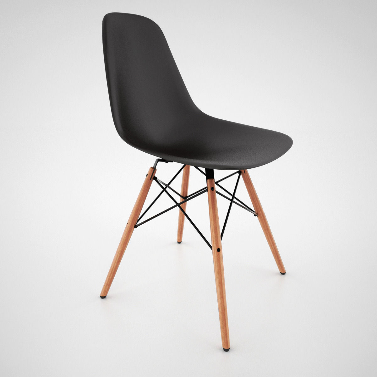 vitra dsw chair and eames table 3d model max obj fbx mat. Black Bedroom Furniture Sets. Home Design Ideas