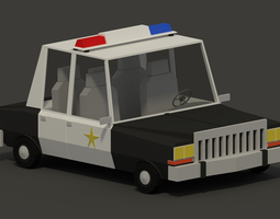 Plymouth Diplomat Police Low-Poly 3D Model