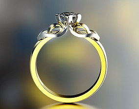 Fashion Ring rings 3D printable model