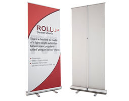 3d banner stand - roll-up