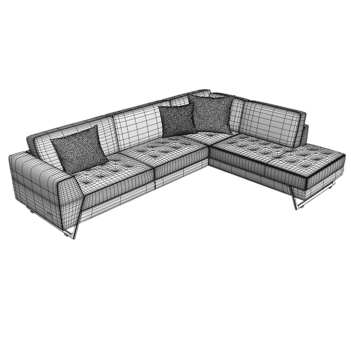 roche bobois satelis canape sofa and armchair free 3d model max. Black Bedroom Furniture Sets. Home Design Ideas