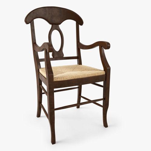 3d Model Pottery Barn Napoleon Rush Seat Chair Cgtrader
