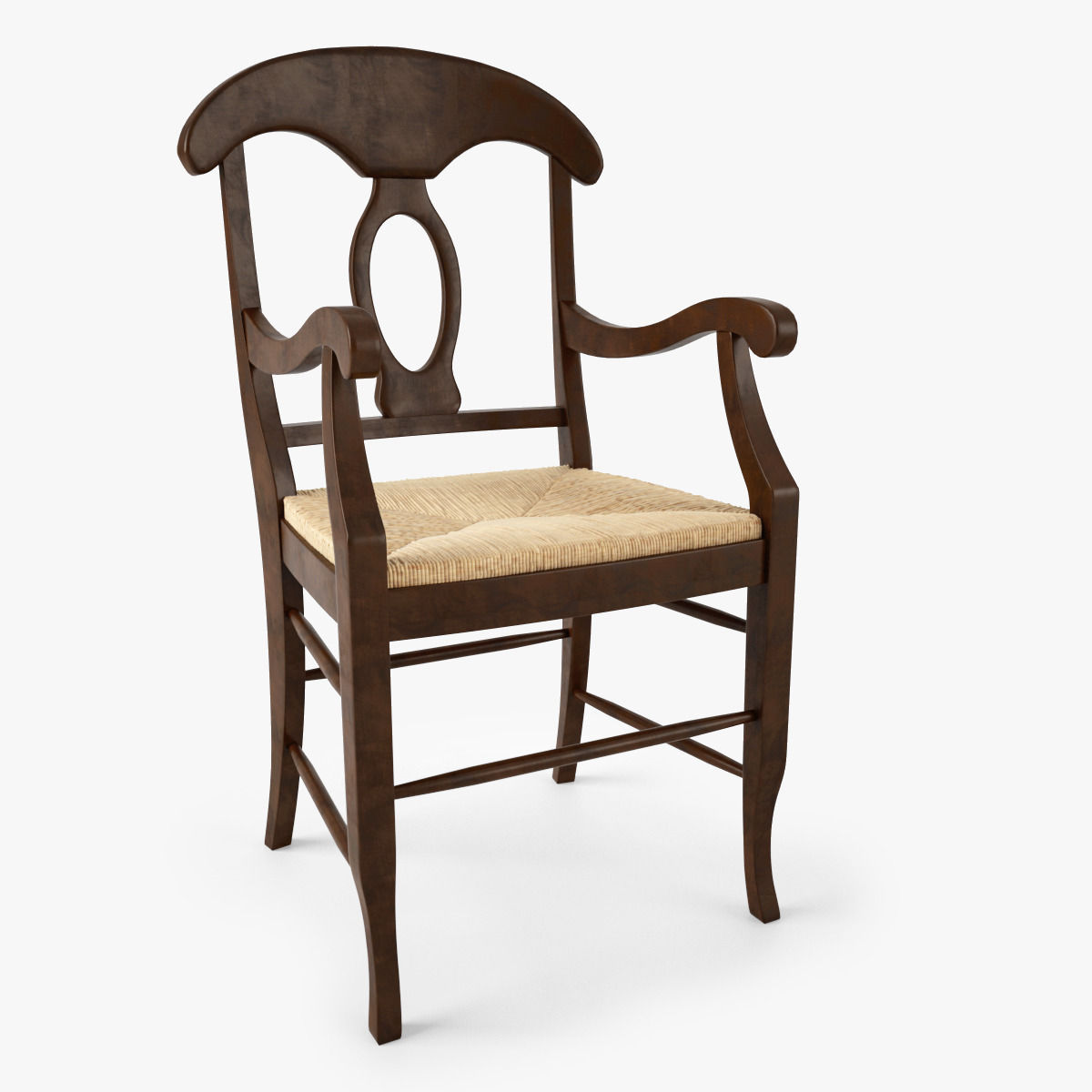 Merveilleux Pottery Barn Napoleon Rush Seat Chair 3d Model Max Obj 1 ...